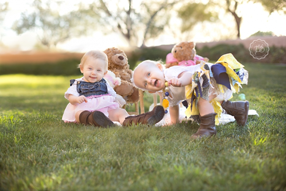 Twin One Year Old Photography Session, Scottsdale Baby ...