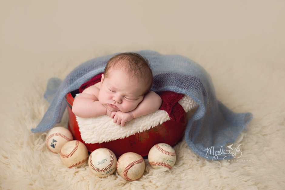 Newborn Boy Baseball And Dr Seuss Themed Session In