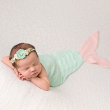 Little Mermaid and Ocean Newborn Session | Phoenix Baby Photographer