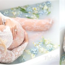 maternity milk bath phoenix photographer malia b photography